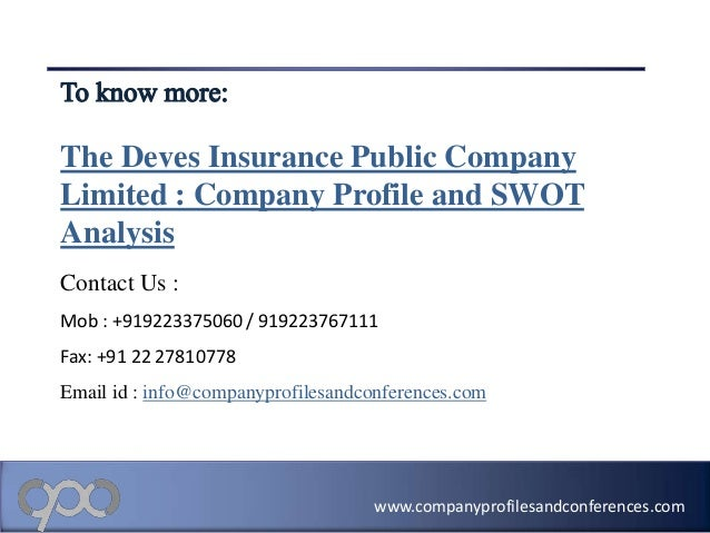 Swot analysis of the garden company limited