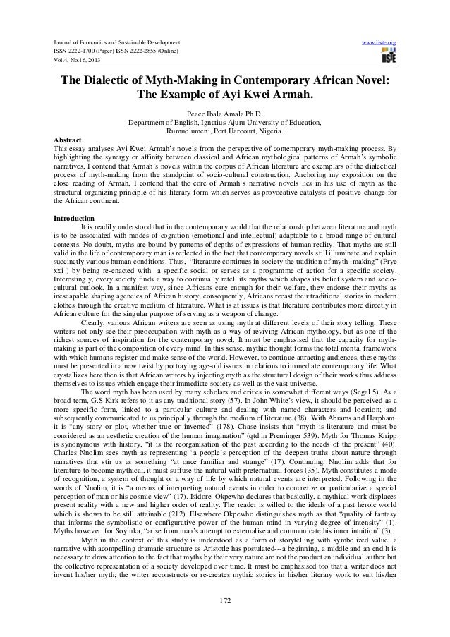 Journal of Economics and Sustainable Development ISSN 2222-1700 (Paper) ISSN 2222-2855 (Online) Vol.4, No.16, 2013  www.ii...