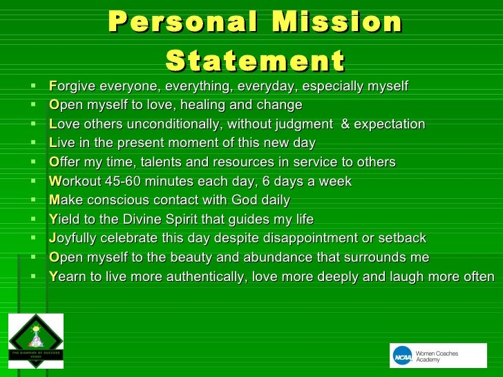 Personal Mission Statement Examples For Teenagers
