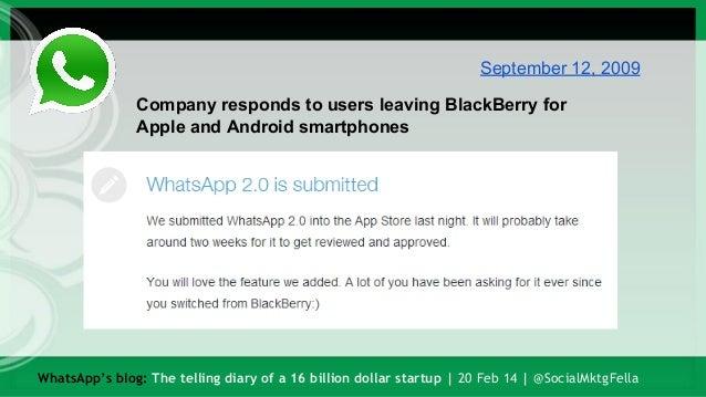 WhatsApp's blog: The telling diary of a 16 billion dollar startup Slide 2