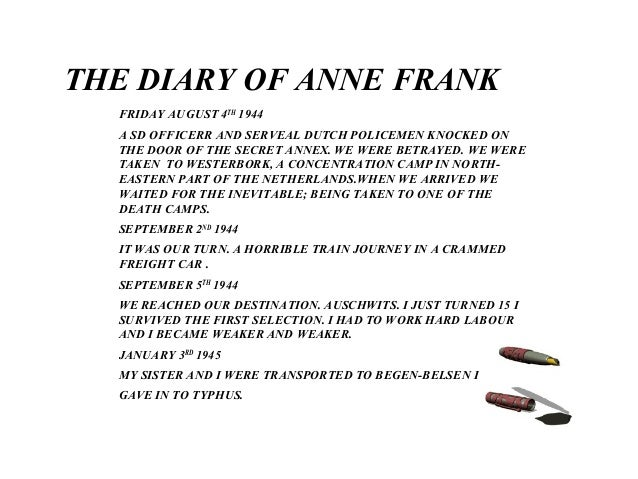 The Diary Of Anne Frank 1