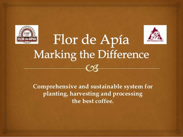 Comprehensive and sustainable system for  planting, harvesting and processing             the best coffee.