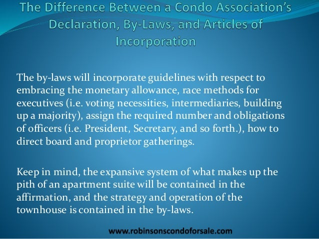 the difference between a condo association s declaration. Black Bedroom Furniture Sets. Home Design Ideas