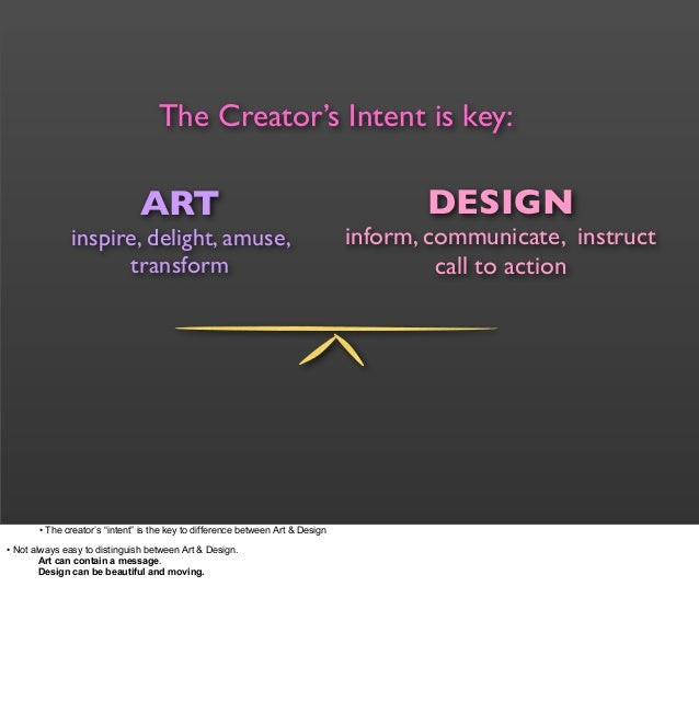 What Is Art And Design : The difference between art design