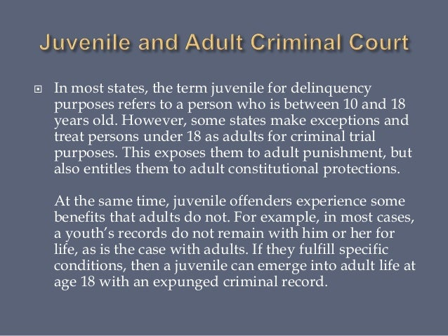 juvenile and adult courts comparative analysis 1 Get started paper , order, or assignment requirements write a 1,050- to 1,750-word paper comparing juvenile courts with adult courts include the following: • an overview of the juvenile justice system • compare the key differences between juvenile and adult courts, including language differences.