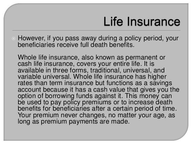 The Difference between Term Life Insurance and Whole Life ...