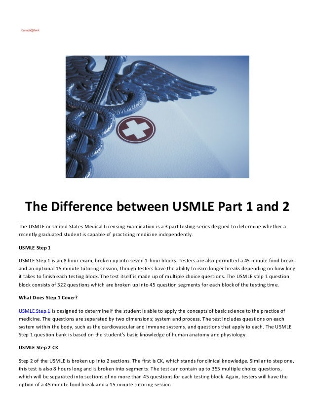 The Difference between USMLE Part 1 and 2