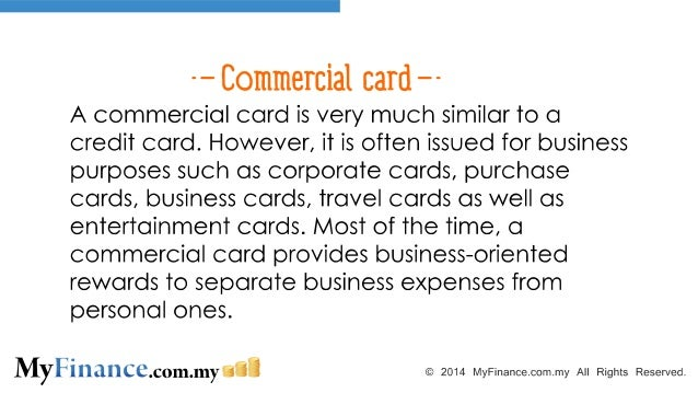 The differences between a credit card commercial card charge card and 4 commercial card reheart Images