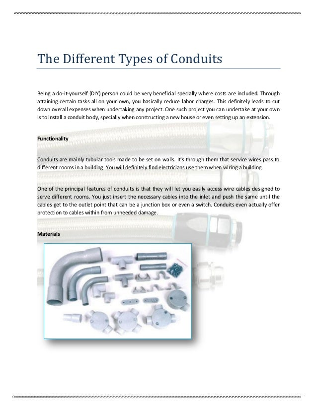 the different types of conduits rh slideshare net