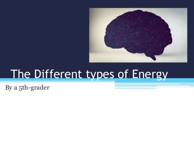 The Different types of Energy By a 5th-grader
