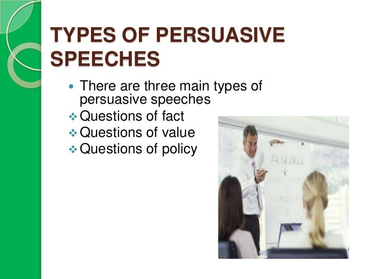 kinds of persuasive speech