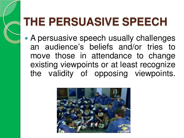 different types of persuasive speeches