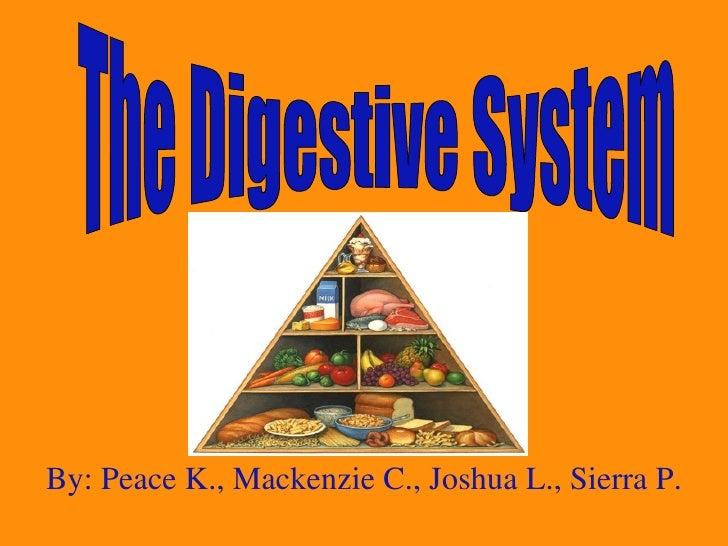 By: Peace K., Mackenzie C., Joshua L., Sierra P. The Digestive System