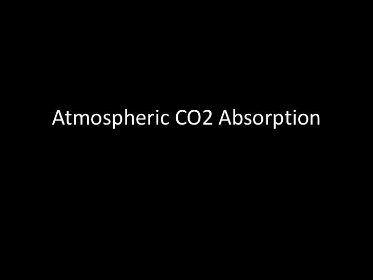 Atmospheric CO2 Absorption<br />