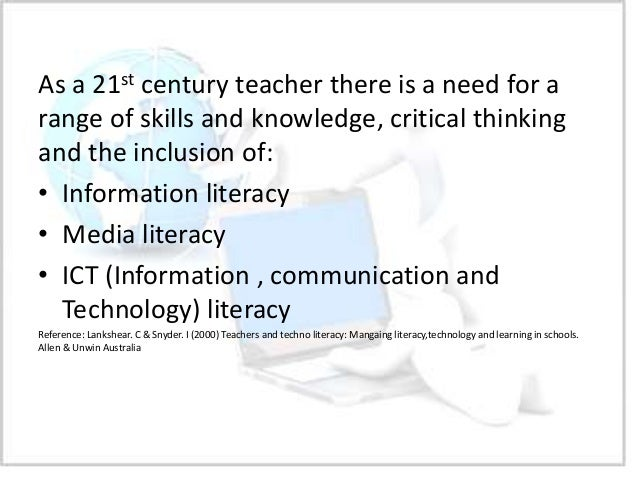 Teach information literacy and critical thinking