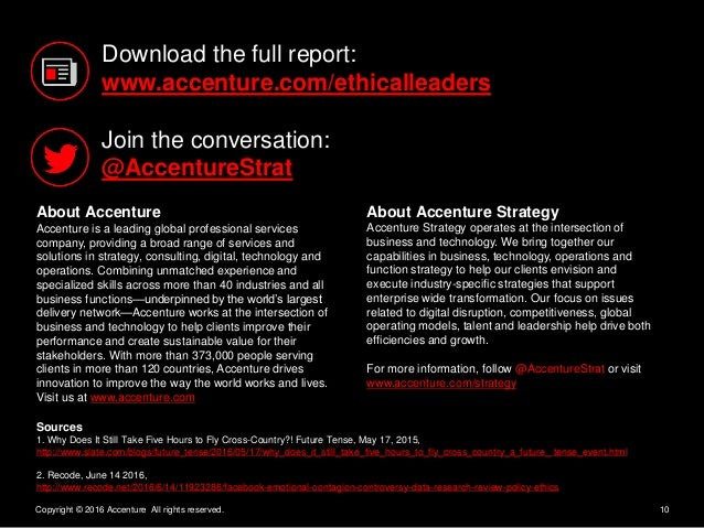 10Copyright © 2016 Accenture All rights reserved. About Accenture Accenture is a leading global professional services comp...