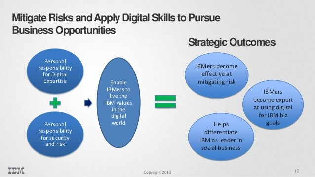 Mitigate Risks and Apply Digital Skills to Pursue Business Opportunities Strategic Outcomes Personal responsibility for Di...