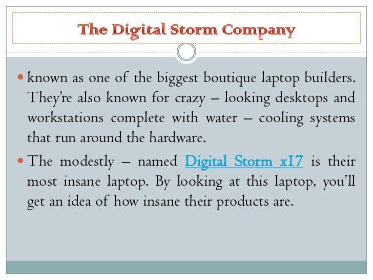 The digital storm x17 Slide 2