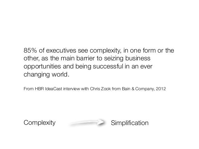 85% of executives see complexity, in one form or the  other, as the main barrier to seizing business  opportunities and be...