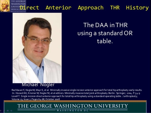 The Direct Anterior Hip Replacement