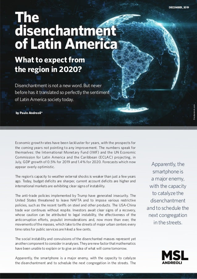 The Disenchantment of Latin America: What to expect from the region in 2020?