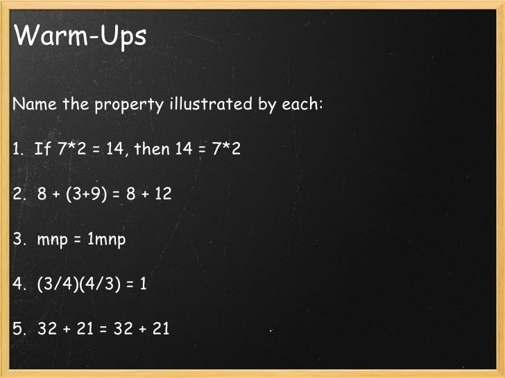 The distributive property Slide 2