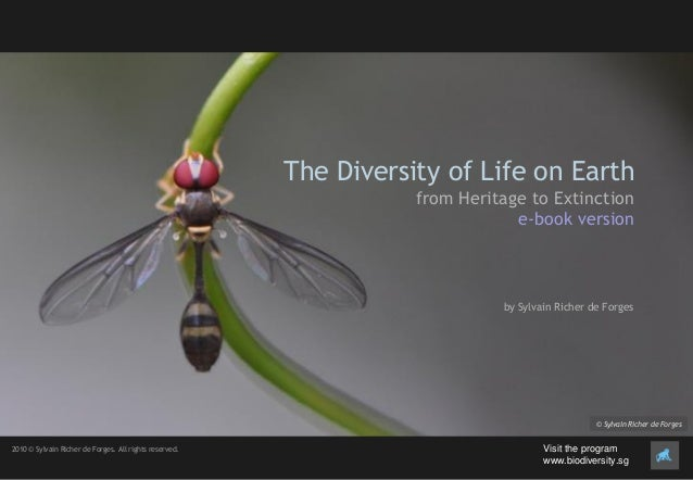 The Diversity of Life on Earth from Heritage to Extinction e-book version by Sylvain Richer de Forges © Sylvain Richer de ...