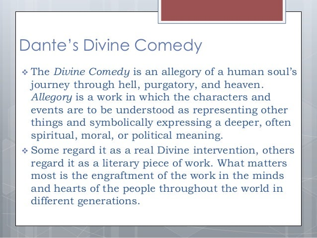 an analysis of dantes the divine comedy Divine comedy is a poem written by dante alighieri to depict his daunting but today we are going to be summarizing and analyzing this poem to show you that.