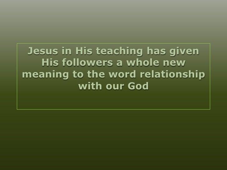 divine relationship with god
