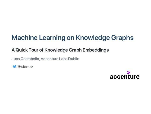MachineLearningonKnowledgeGraphs AQuickTourofKnowledgeGraphEmbeddings LucaCostabello,AccentureLabsDublin @lukostaz
