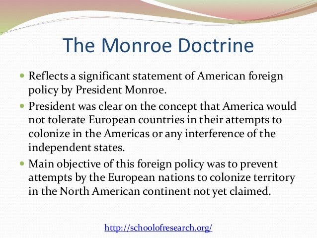 the doctrines behind us foreign policy  3 the monroe doctrine