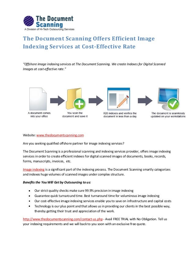 the document scanning offers efficient image indexing With document scanning services cost