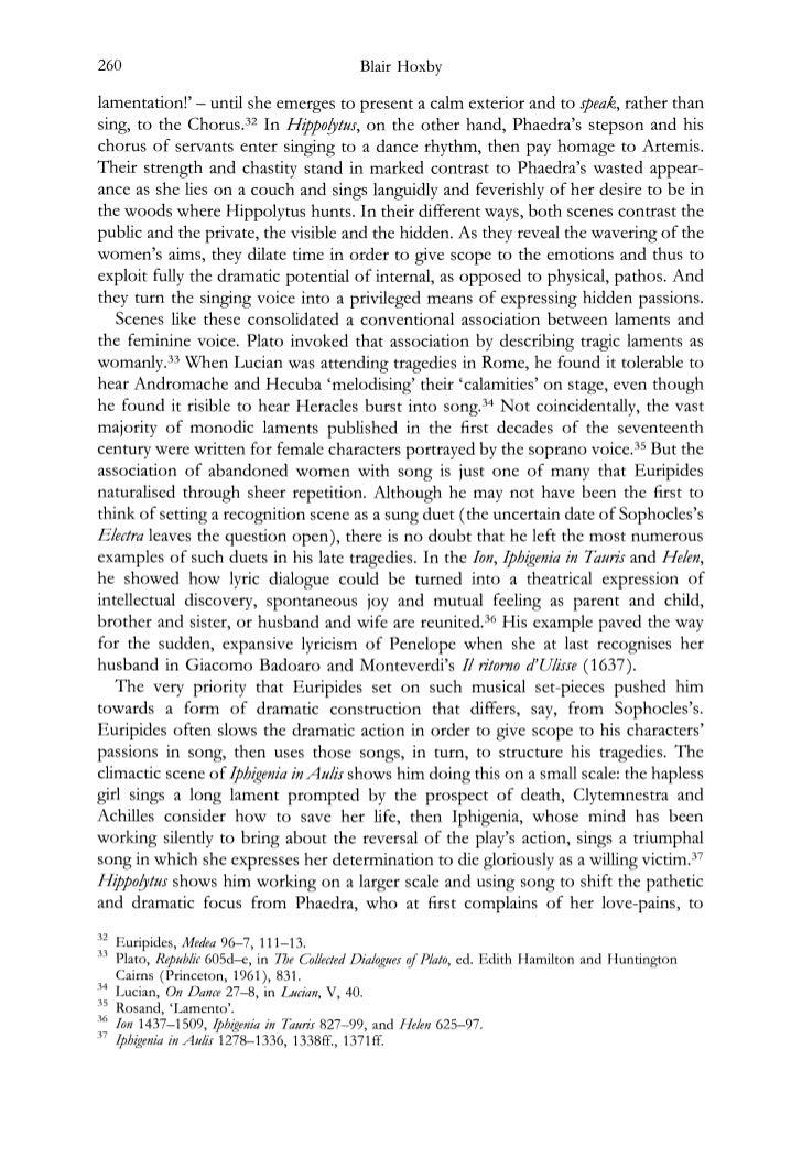 hippolytus essay questions