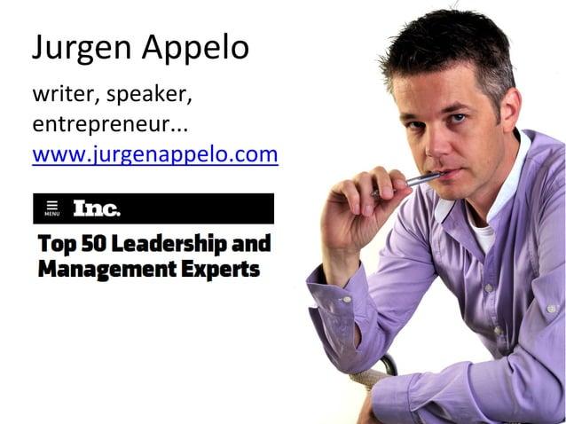 Jurgen Appelo writer, speaker, entrepreneur... www.jurgenappelo.com