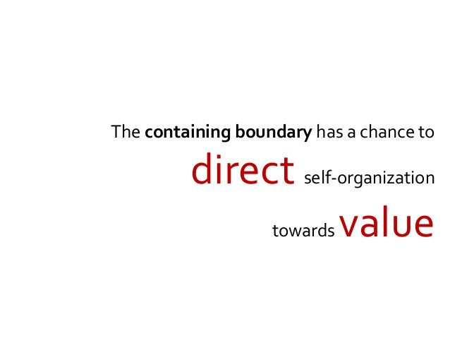 Directed self-organization Don't go here! Go there!