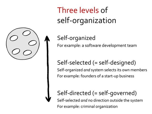 Emergent, but not self-organizing