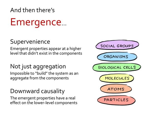 Self-organizing, but not emergent