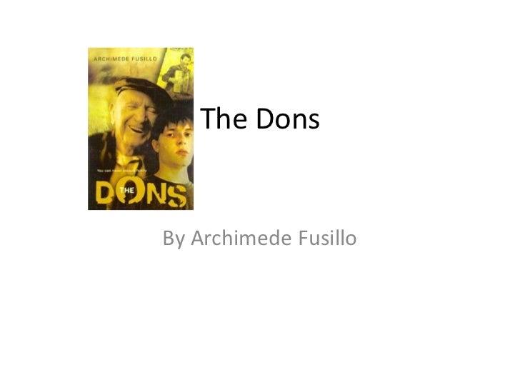 The DonsBy Archimede Fusillo