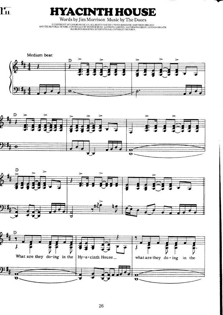 The Doors Lawoman Music Sheet
