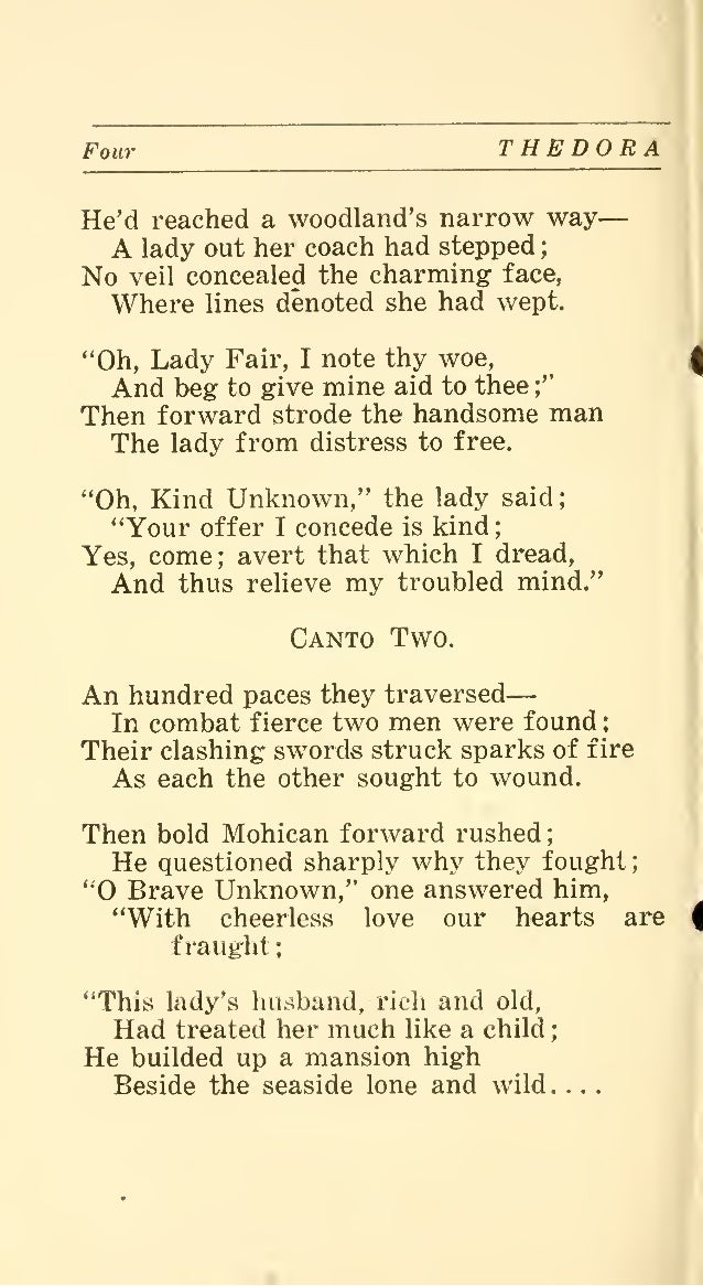 Thedora A Dramatic Poem Founded On An Old Spanish Romance