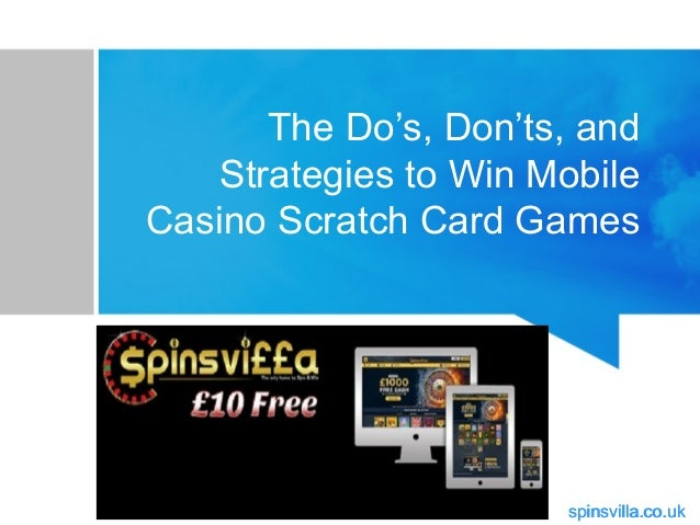 The Do's, Don'ts, and Strategies to Win Mobile Casino
