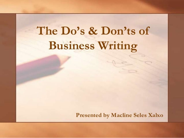 Dos and donts of writing a business plan