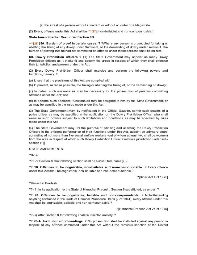 The dowry prohibition act 1961 – Prohibition Worksheet