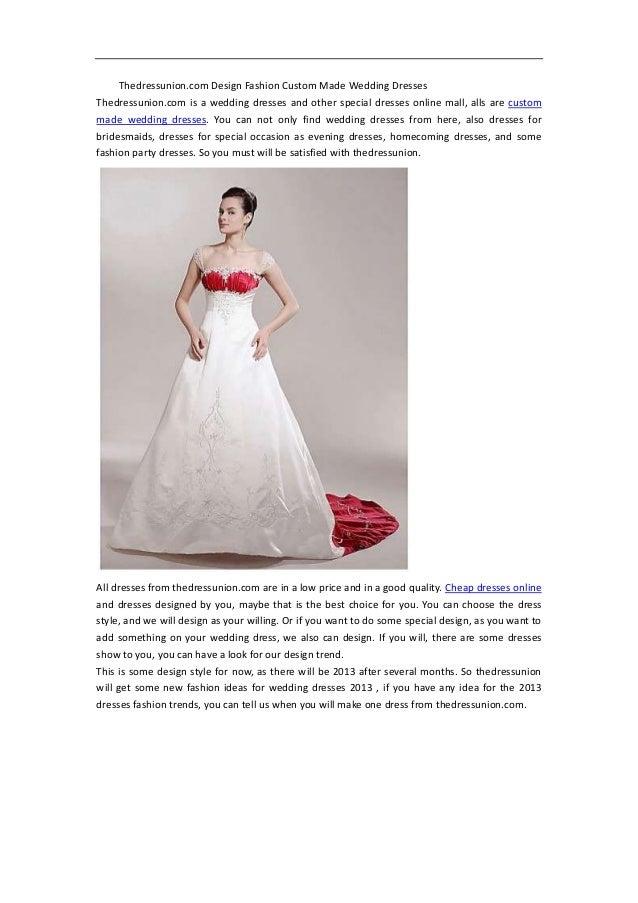 Thedressunion Design Fashion Custom Made Wedding Dresses