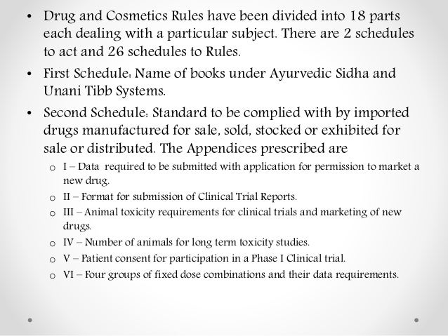 The Drugs and Cosmetics Act and Rules