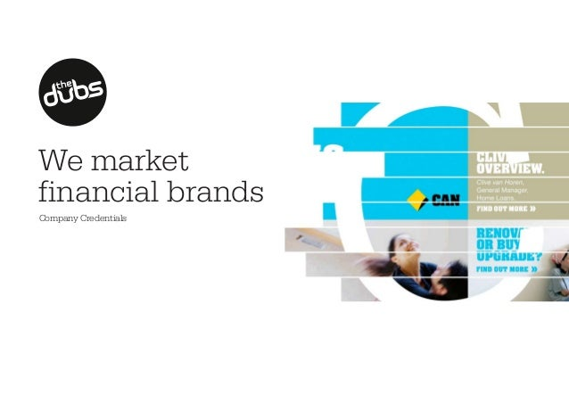 We market financial brands Company Credentials