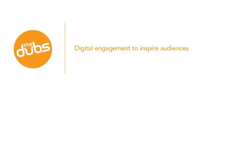 Digital engagement to inspire audiences