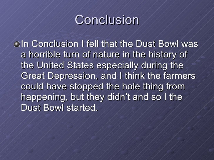 conclusion of the great depression essay Stimulus or laissez-faire that's the essential debate about what to about financial crisis in our time it was the same in the 1930s in this world before and after the great depression, there was a lone voice for sanity and freedom: ludwig von mises he speaks in the causes of the economic crisis.