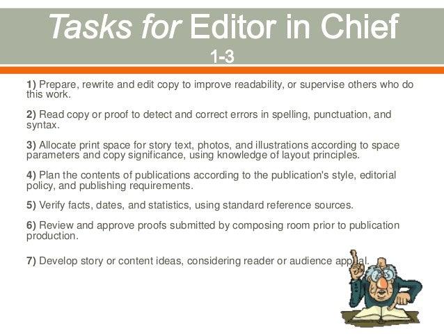 The Duties Responsibilities Of Editors