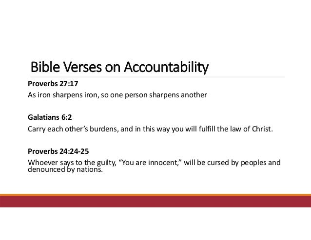 how to develop accountability in church